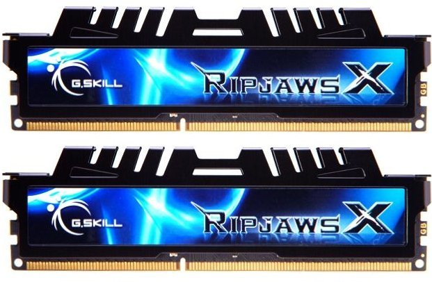 G.Skill RipJawsX black DIMM kit 8GB, DDR3-1600, CL7-8-7-24 (F3-12800CL7D-8GBXH)