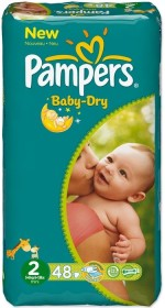Pampers Baby-Dry Gr.2 Einwegwindel, 3-6kg, 48 Stück