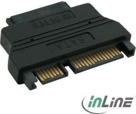 InLine SATA adapter, SATA 22-Pin plug on Slimline SATA 13-Pin socket (29611)