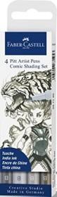 Faber-Castell PITT artist Pen Brush Shading Set grau, 4-teilig (267195)