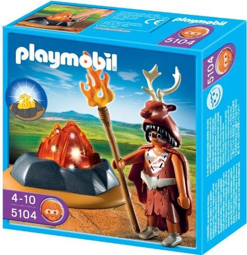 playmobil History - Feuerhüter mit LED-Feuerfels (5104) -- via Amazon Partnerprogramm