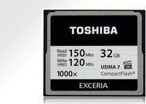 Toshiba Exceria R150/W120 CompactFlash Card [CF] 1000x 128GB