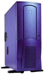 Chieftec Scorpio TX-10BLD, Midi-Tower with door, blue (various Power Supplies)