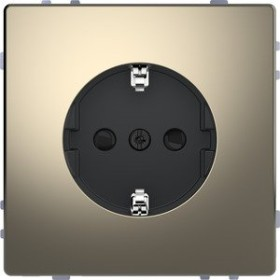 Merten System Design SCHUKO-Steckdose, nickelmetallic (MEG2300-6050)