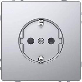 Merten System Design SCHUKO-Steckdose, edelstahl (MEG2300-6036)