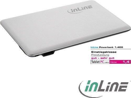 InLine Powerbank Slim 1400mAh silber (01475S)