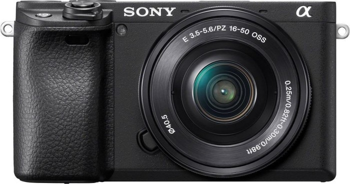 Sony Alpha 6400 schwarz mit Objektiv AF E 16-50mm 3.5-5.6 OSS PZ (ILCE-6400LB)