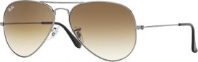 Ray-Ban RB3025 Aviator Gradient 55mm silber/braun (RB3025-004/51)