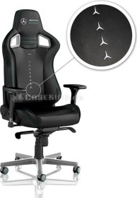 noblechairs Epic Mercedes-AMG Petronas Motorsport Edition Gamingstuhl, schwarz/silber (NBL-PU-MAP-001)