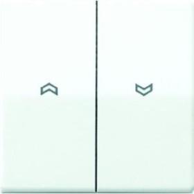 Jung Serie AS Wippe Duroplast mit Pfeilsymbolen, alpinweiß (AS 591-5 P WW)
