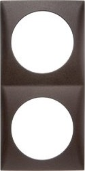 Berker Integro FLOW Rahmen 2fach, braun matt (918262511)
