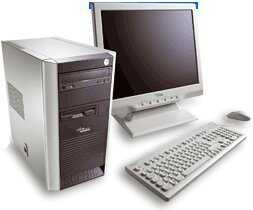 Fujitsu Scenic X100, Celeron 2.60GHz with Lexmark X215 Printer