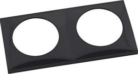 Berker Integro FLOW Rahmen 2fach, schwarz glänzend (918262510)