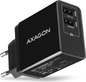 AXAGON ACU-DS16 5V/2.2A + 5V/1A Smart wall Charger black