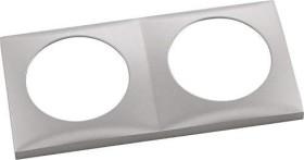 Berker Integro FLOW Rahmen 2fach, edelstahl matt (918262524)