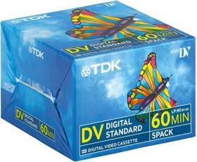 TDK DVM-60 miniDV cassette, 5-pack