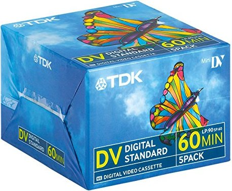 TDK DVM-60 miniDV cassette, 5-pack -- provided by bepixelung.org - see http://www.bepixelung.org/247 for copyright and usage information
