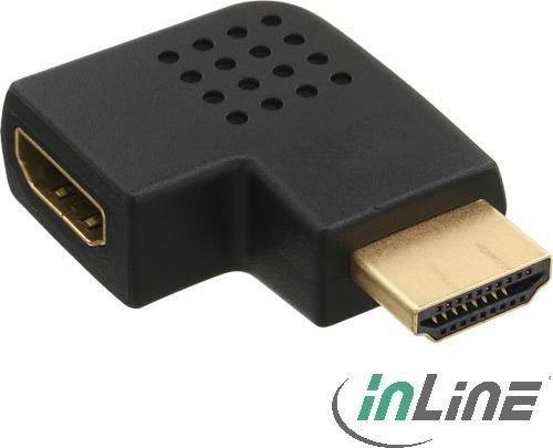 InLine HDMI adapter, plug on socket, left angled (17600S)