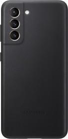 Samsung Leather Cover für Galaxy S21 schwarz (EF-VG991LBEGWW)
