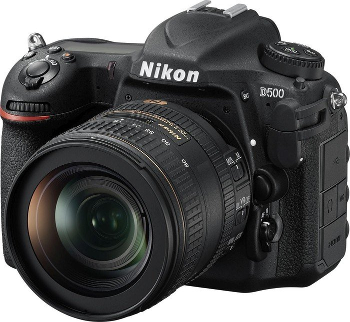 Nikon D500 black with lens AF-S VR DX 16-80mm 2.8-4.0E ED (VBA480K001)