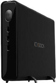 Icy Dock MB664US-1SB schwarz, USB-B 2.0/eSATA (96642)