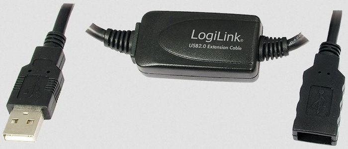 LogiLink USB 2.0 extension cable, 10m (UA0143)