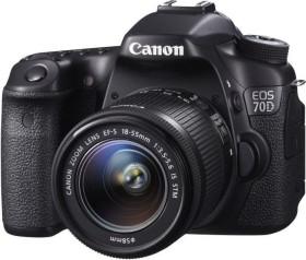 Canon EOS 70D schwarz mit Objektiv Fremdhersteller