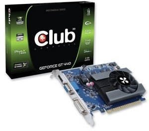 Club 3D GeForce GT 440, 2GB DDR3, VGA, DVI, HDMI (CGNX-G4448ZI)