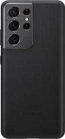 Samsung Leather Cover für Galaxy S21 Ultra schwarz (EF-VG998LBEGWW)