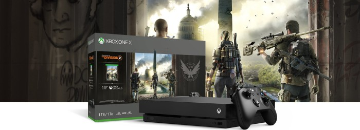 Microsoft Xbox One X - 1TB Tom Clancy's The Division 2 Bundle schwarz