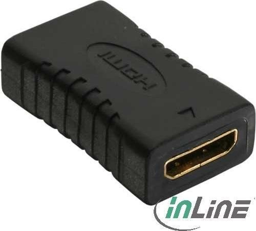 InLine HDMI type C mini adapter, socket on socket, gold-plated with thread (17600L)
