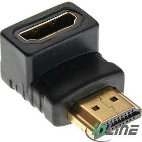 InLine HDMI Adapter, Stecker auf Buchse, unten gewinkelt (17600H)
