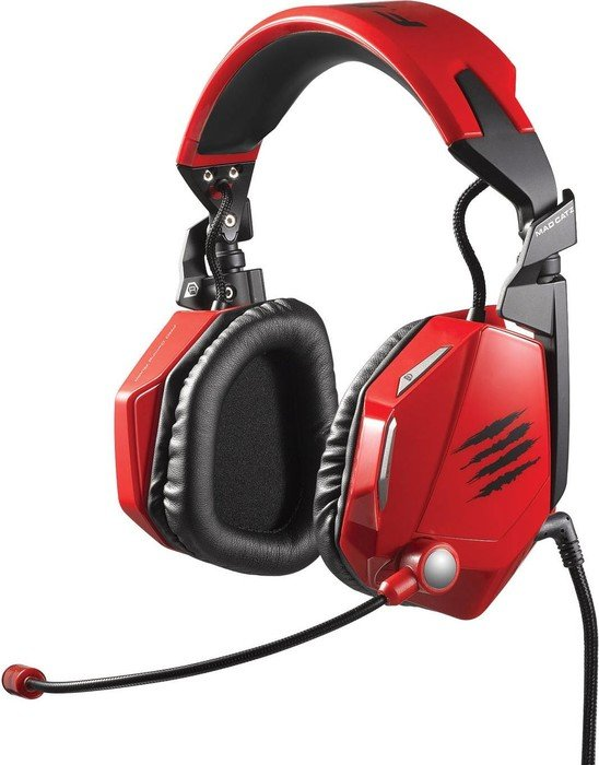 MadCatz Cyborg F.R.E.Q. 7 Surround Gaming Headset, rot (MCB434020013)