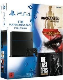 Sony PlayStation 4 - 1TB Players Mega Pack Bundle schwarz