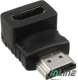InLine HDMI Adapter, Stecker auf Buchse, unten gewinkelt (17600A)