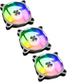 Lian Li BR digital RGB, silver, 120mm, LED control, 3-pack (BRDIGITAL-3RS)