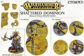 Games Workshop Warhammer Age of Sigmar - Shattered Dominion - Rundbases (40mm & 65mm) (99120299034)
