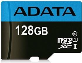 ADATA Premier R85/W25 microSDXC 128GB Kit, UHS-I U1, Class 10 (AUSDX128GUICL10 85-RA1)