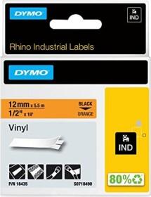 Dymo ID1 Industrial Rhino Pro labelling tape 12mm, black/orange (18435 / S0718490)