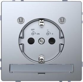 Merten System Design SCHUKO-Steckdose, edelstahl (MEG2304-6036)