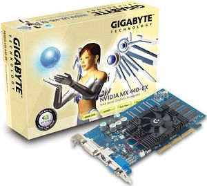 Gigabyte GV-N4464D, GeForce4 MX440 8X, 64MB DDR, DVI, TV-out, AGP