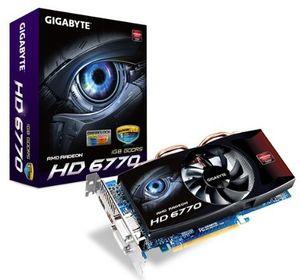 Gigabyte Radeon HD 6770 OC, 1GB GDDR5, 2x DVI, HDMI, DisplayPort (GV-R677OC-1GD)