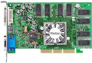Leadtek WinFast A340-TD256, GeForceFX 5200 (5500), 256MB DDR, DVI, TV-out, AGP