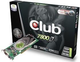 Club 3D GeForce 7800 GS, 256MB DDR3, VGA, DVI, TV-out (CGN-GS786)