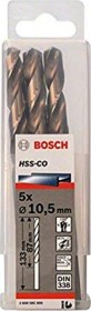 Bosch HSS-Co drills 10.5x87x133mm, 5-pack (2608585900)