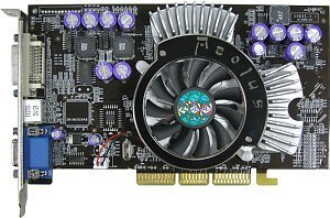 AOpen Aeolus FX5700-DV128, GeForceFX 5700, 128MB DDR2, DVI, TV-out, AGP (91.05210.361)