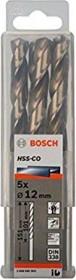 Bosch HSS-Co drills 12x101x151mm, 5-pack (2608585903)