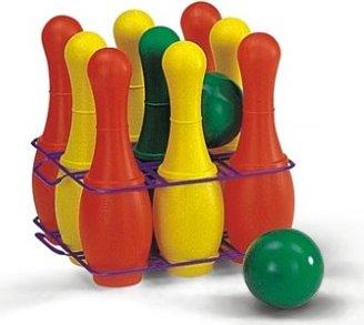 Rolly Toys 261550 Kinder Kegelspiel mit 9 Kegel Pinnen 2 Kugeln Tragebox Neu OVP Spielzeug für draußen