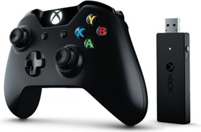 Microsoft Xbox One Controller + Wireless Adapter for Windows (PC/Xbox One) (NG6-00002)