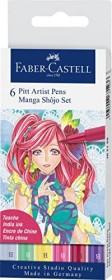 Faber-Castell PITT artist Pen Brush Set Manga Shojo sortiert, 6-teilig (167155)